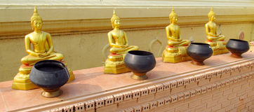 Buddha statues in Buddhist temple royalty free stock images