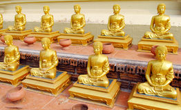 Buddha statues in Buddhist temple royalty free stock image