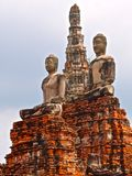 Buddha statues in Buddhist temple Wat Chaiwatthanaram in Ayutthaya Royalty Free Stock Images