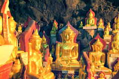 Buddha statues on the cave of Pindaya Royalty Free Stock Photos