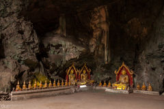 Buddha statues in a cave. Thailand Royalty Free Stock Photo