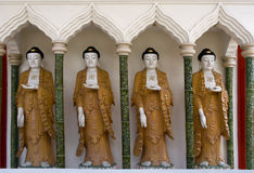 Buddha Statues, Chinese Temple, Penang, Malaysia Royalty Free Stock Image