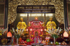 Buddha Statues in Chinese Temple Stock Image