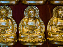 Buddha statues at Chinese wall church in Thailand. Stock Images