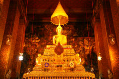 Buddha Statues  in church of Wat Pho, Bangkok Stock Photography