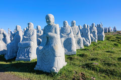 Buddha statues. The close-up of stone buddha statues of Yanjiao Temple in Wutai Mountain in Shanxi, China Stock Photos