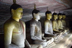 Buddha statues in Dambulla Cave Temple Royalty Free Stock Image