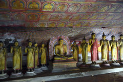Buddha statues in Dambulla Cave Temple Royalty Free Stock Images