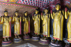 Buddha statues in Dambulla, Sri Lanka Stock Photography