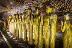 Buddha Statues In Dambulla, Sri Lanka Royalty Free Stock Photo