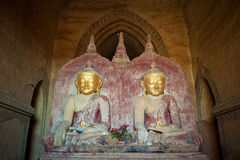 Buddha statues in the Dhammayangyi Temple, Myanmar Stock Photo