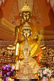 Buddha statues , Face of gold Buddha, Close up face of gold Buddha. Stock Images