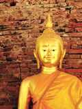 Buddha statues , Face of gold buddha Royalty Free Stock Image
