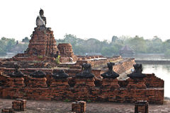 Buddha statues and Floods Stock Photos