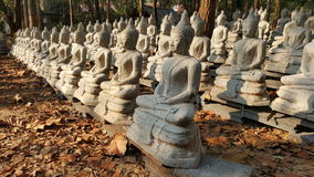 Buddha statues at foundry in evening Royalty Free Stock Photos