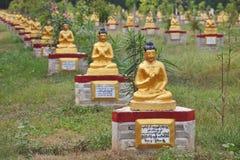 Buddha statues garden, Myanmar Stock Image