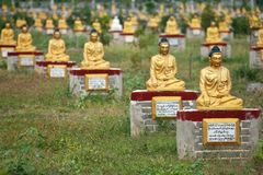 Buddha statues garden, Myanmar Stock Photography