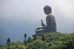 Buddha statues in hong kong. Huge buddha statues in hong kong royalty free stock photo