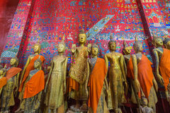 Buddha Statues In Wat Xieng Thong In Luang Prabang Stock Images