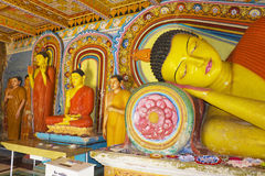 Buddha Statues at Isurumuniya Temple, Sri Lanka Royalty Free Stock Photography