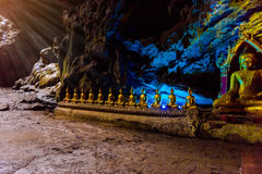 Buddha statues : The Khao Luang cave. At Phetchaburi, Thailand stock images