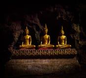 Buddha statues : The Khao Luang cave. At Phetchaburi, Thailand stock image