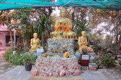 Buddha statues. At Lan island, Thailand Royalty Free Stock Photography