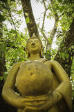 Buddha statues That luang temple Royalty Free Stock Photo