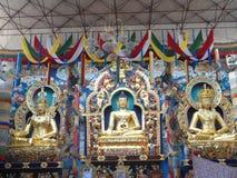 Buddha Statues in Namdroling Monastery, Kushalnagar. Three Buddha Statues in Namdroling Monastery, Kushalnagar, India Stock Photography