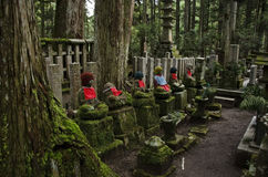 Buddha statues at Okunoin Cemetary Royalty Free Stock Images