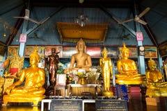 Buddha statues in pavilion of Wat Jong Klang, Maehongson, Thaila Royalty Free Stock Image