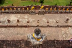 Buddha statues. Row of buddha statues in ayutthaya, thailand Stock Images
