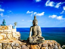 Buddha by Sea royalty free stock images