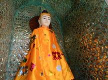 Buddha statues in Shwedagon Pagoda, Yangon Stock Photos