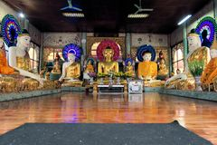 Buddha Statues at Shwedagon, Yangon, Burma Royalty Free Stock Image
