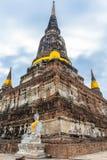 Buddha statues and stupa at Wat Yai Chai Mongkon, Ayutthaya, Thailand, Asia royalty free stock images