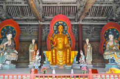 Buddha statues. The buddha statues in temple basilica Royalty Free Stock Photography