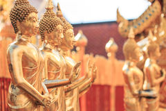 Buddha statues at the temple Royalty Free Stock Photography