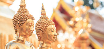 Buddha statues at the temple Royalty Free Stock Photo