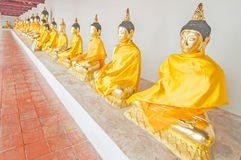 Buddha statues at the temple of Suratthani Stock Image