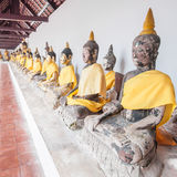 Buddha statues at the temple of Suratthani Stock Photography