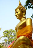 Buddha statues at the temple in Thailand. Buddha statues gold color at the temple in Thailand Royalty Free Stock Image