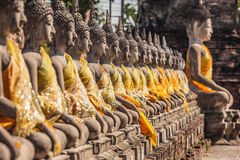 Buddha statues at the temple in Thailand Stock Images