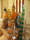 Buddha statues in a temple Stock Images