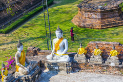 Buddha statues at the temple of Wat Stock Photography