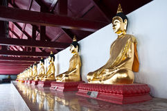 Buddha statues at the temple Stock Image
