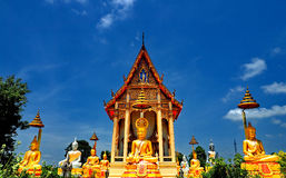 Buddha statues at Thai temple Royalty Free Stock Image