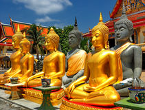Buddha statues at Thai temple Royalty Free Stock Images