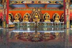 Buddha statues in a Tibetan monastery Royalty Free Stock Images