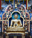 Buddha statues in a Tibetan monastery Stock Images
